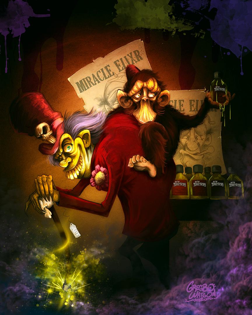 Doctor Monkeyshines | Children's Book Illustration by Gregbo