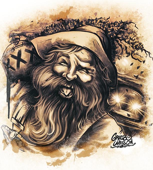 Hillbilly Moonshine | Illustration by Gregbo