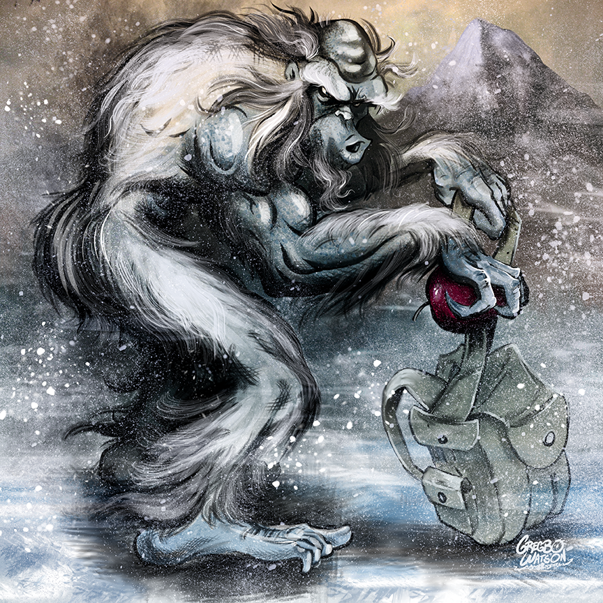 Yeti Ate My Backpack | Illustration by Gregbo Watson