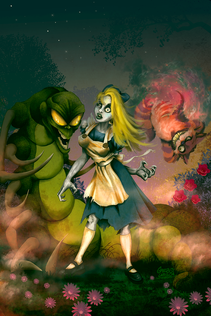 Zombie Alice in Wonderland | Illustration by Gregbo Watson